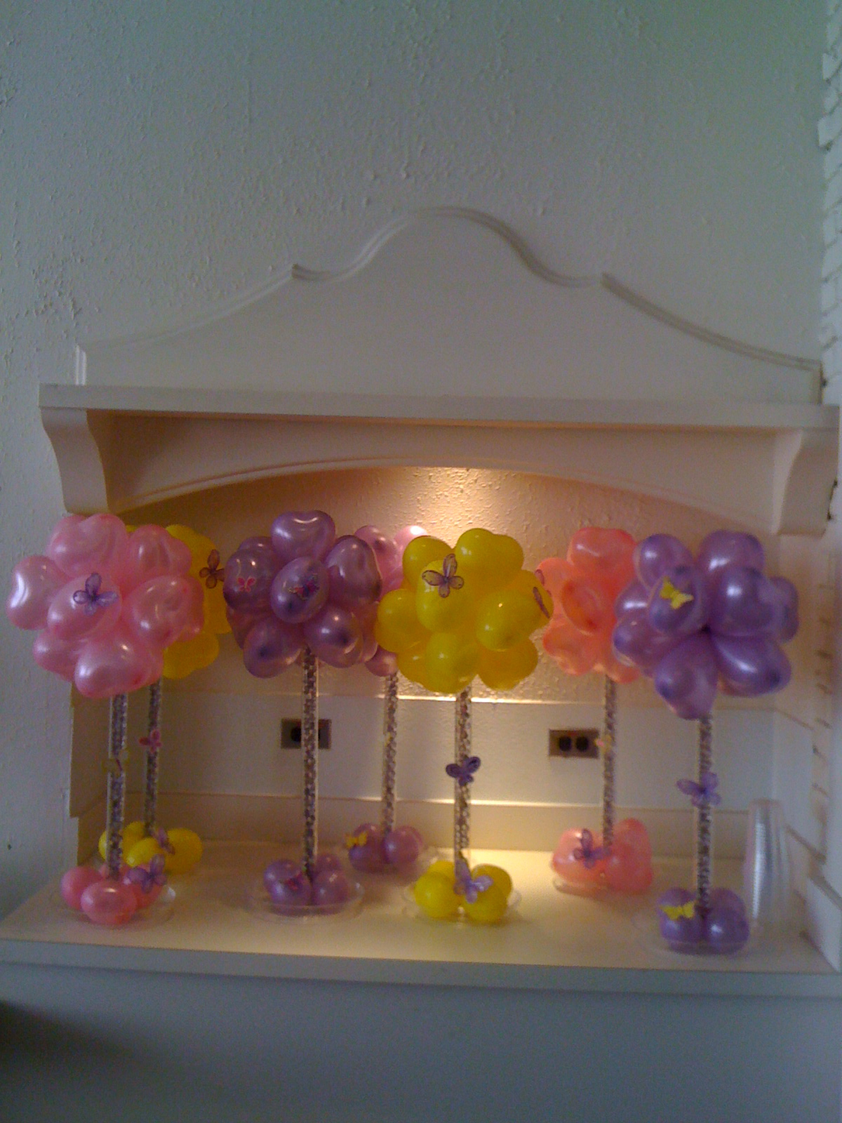 Images of heaven events balloons centerpieces